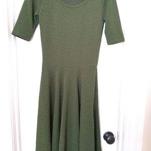 Army green sm Nicole dress LuLaRoe